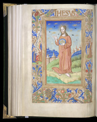 Full-Page Miniature Of Christ, In A Book Of Hours